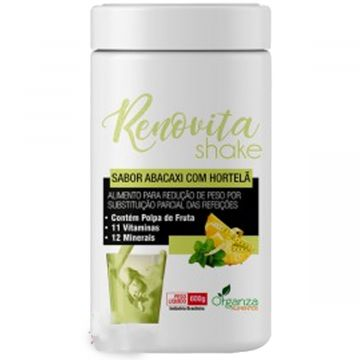 Shake Renovita Abacaxi com Hortelã Organza Alimentos 024