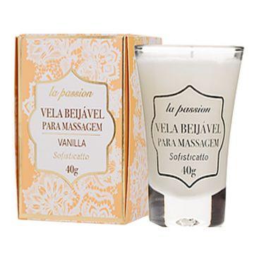 Vela Beijável para Massagem Vanilla La Passion Sofisticatto 2429