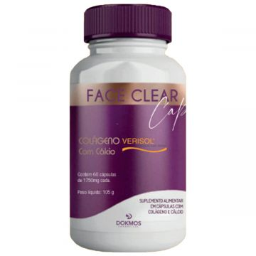 Suplemento Alimentar de Colágeno, Biotina e Vitamina C - Face Clear Caps Dokmos 5499