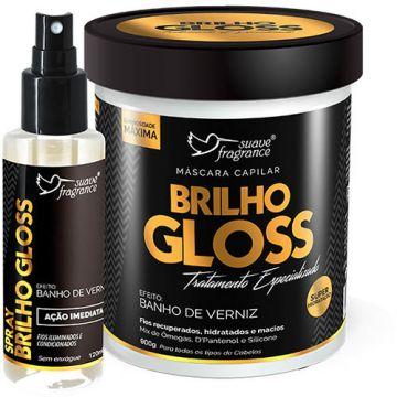 Kit Máscara Capilar + Spray Suave Fragrance Brilho Gloss Ref. 8108