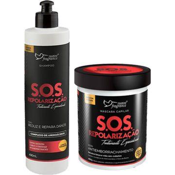 Kit Promocional Shampoo + Máscara Capilar S.O.S. Repolarização Suave Fragrance 8158