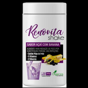Shake Renovita Açai com Banana Organza Alimentos 022